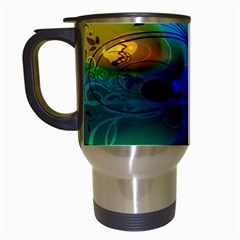 Abstract Color Plants Travel Mugs (white)