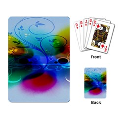 Abstract Color Plants Playing Card