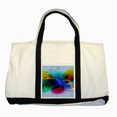 Abstract Color Plants Two Tone Tote Bag