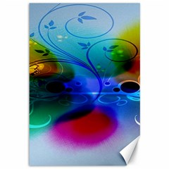 Abstract Color Plants Canvas 12  X 18