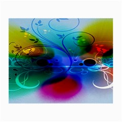 Abstract Color Plants Small Glasses Cloth (2 Side)