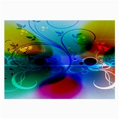 Abstract Color Plants Large Glasses Cloth