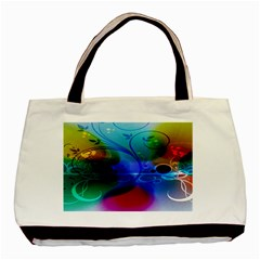 Abstract Color Plants Basic Tote Bag (Two Sides)