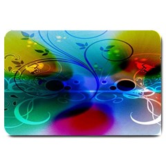 Abstract Color Plants Large Doormat