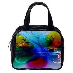 Abstract Color Plants Classic Handbags (One Side)