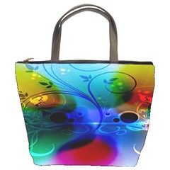 Abstract Color Plants Bucket Bags