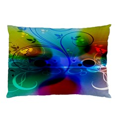 Abstract Color Plants Pillow Case