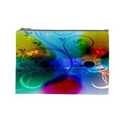 Abstract Color Plants Cosmetic Bag (Large)