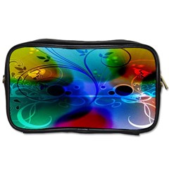 Abstract Color Plants Toiletries Bags