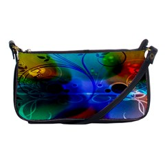 Abstract Color Plants Shoulder Clutch Bags