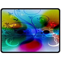 Abstract Color Plants Fleece Blanket (large)