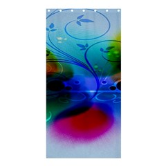 Abstract Color Plants Shower Curtain 36  X 72  (stall)