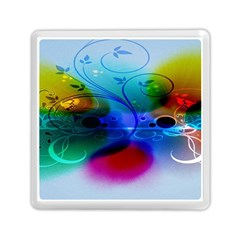 Abstract Color Plants Memory Card Reader (square)