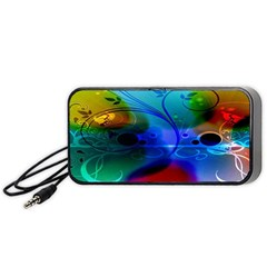 Abstract Color Plants Portable Speaker (black)