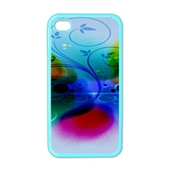 Abstract Color Plants Apple Iphone 4 Case (color)