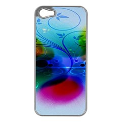 Abstract Color Plants Apple iPhone 5 Case (Silver)