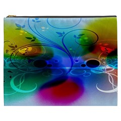 Abstract Color Plants Cosmetic Bag (xxxl)
