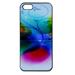 Abstract Color Plants Apple iPhone 5 Seamless Case (Black)