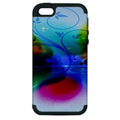 Abstract Color Plants Apple iPhone 5 Hardshell Case (PC+Silicone)
