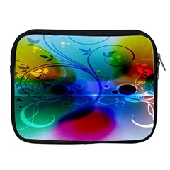 Abstract Color Plants Apple iPad 2/3/4 Zipper Cases
