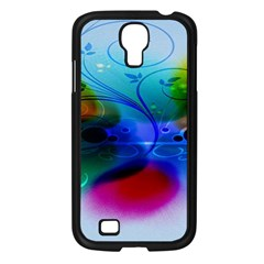 Abstract Color Plants Samsung Galaxy S4 I9500/ I9505 Case (Black)