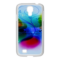 Abstract Color Plants Samsung GALAXY S4 I9500/ I9505 Case (White)