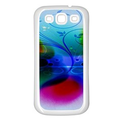 Abstract Color Plants Samsung Galaxy S3 Back Case (White)