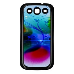 Abstract Color Plants Samsung Galaxy S3 Back Case (Black)