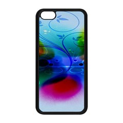 Abstract Color Plants Apple Iphone 5c Seamless Case (black)