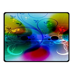 Abstract Color Plants Double Sided Fleece Blanket (small)