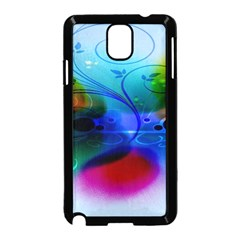 Abstract Color Plants Samsung Galaxy Note 3 Neo Hardshell Case (Black)