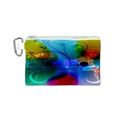 Abstract Color Plants Canvas Cosmetic Bag (s)