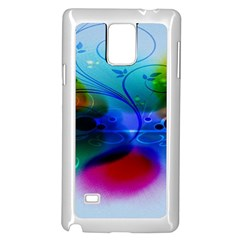 Abstract Color Plants Samsung Galaxy Note 4 Case (White)