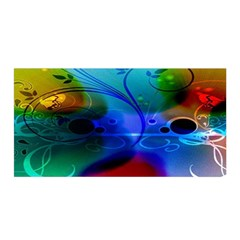 Abstract Color Plants Satin Wrap