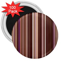 Brown Vertical Stripes 3  Magnets (100 pack)