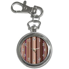 Brown Vertical Stripes Key Chain Watches