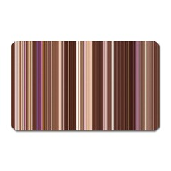 Brown Vertical Stripes Magnet (rectangular)