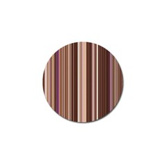 Brown Vertical Stripes Golf Ball Marker