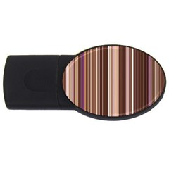 Brown Vertical Stripes Usb Flash Drive Oval (2 Gb)