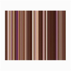 Brown Vertical Stripes Small Glasses Cloth