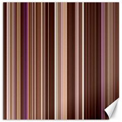 Brown Vertical Stripes Canvas 16  x 16