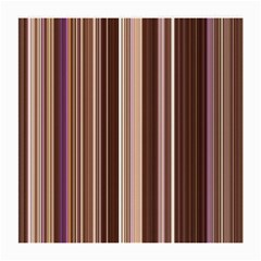 Brown Vertical Stripes Medium Glasses Cloth