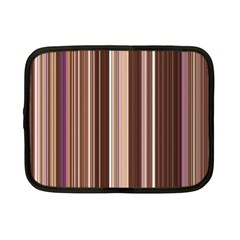 Brown Vertical Stripes Netbook Case (Small)