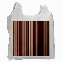 Brown Vertical Stripes Recycle Bag (two Side)