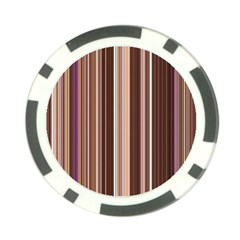 Brown Vertical Stripes Poker Chip Card Guard (10 pack)