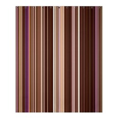 Brown Vertical Stripes Shower Curtain 60  x 72  (Medium)