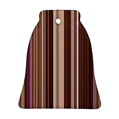 Brown Vertical Stripes Bell Ornament (Two Sides)