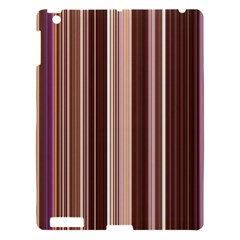 Brown Vertical Stripes Apple Ipad 3/4 Hardshell Case
