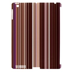 Brown Vertical Stripes Apple iPad 3/4 Hardshell Case (Compatible with Smart Cover)
