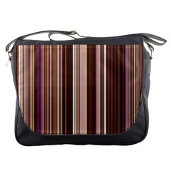 Brown Vertical Stripes Messenger Bags